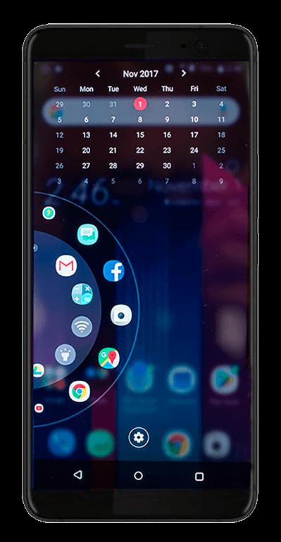 Удобное круговое меню HTC U11 Plus