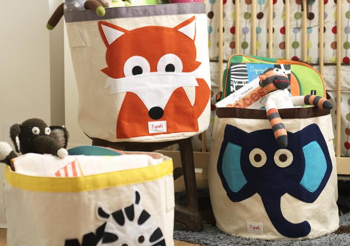 расочными интересными аппликациями будут уместны в любой детской комнате. Корзины 3 Spourts изготовлены из качественных натурального хлопка и фетра.