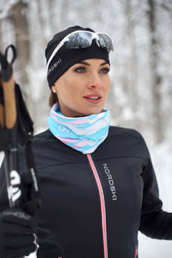Женский утеплённый лыжный костюм Nordski Active Black 2020