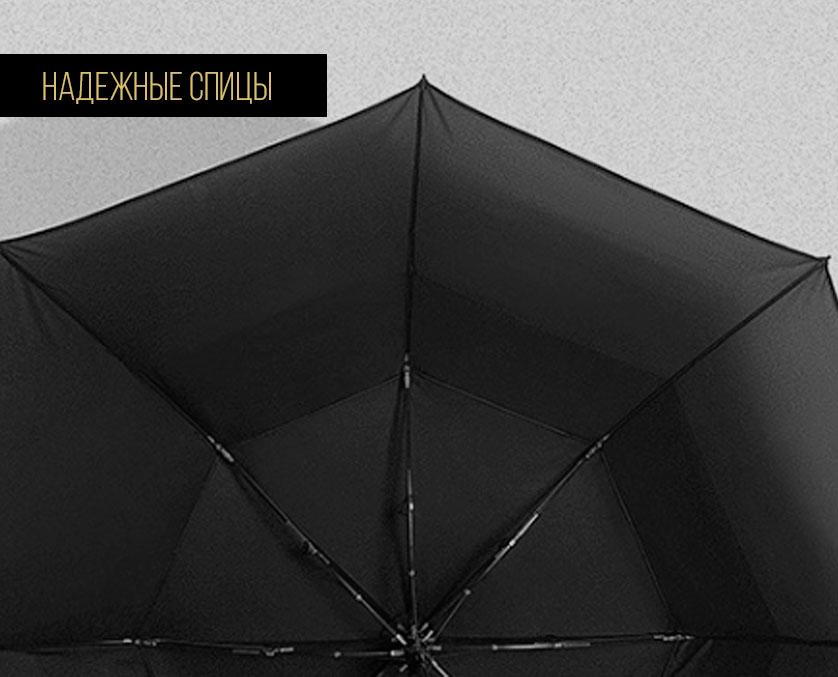 Черный складной зонт