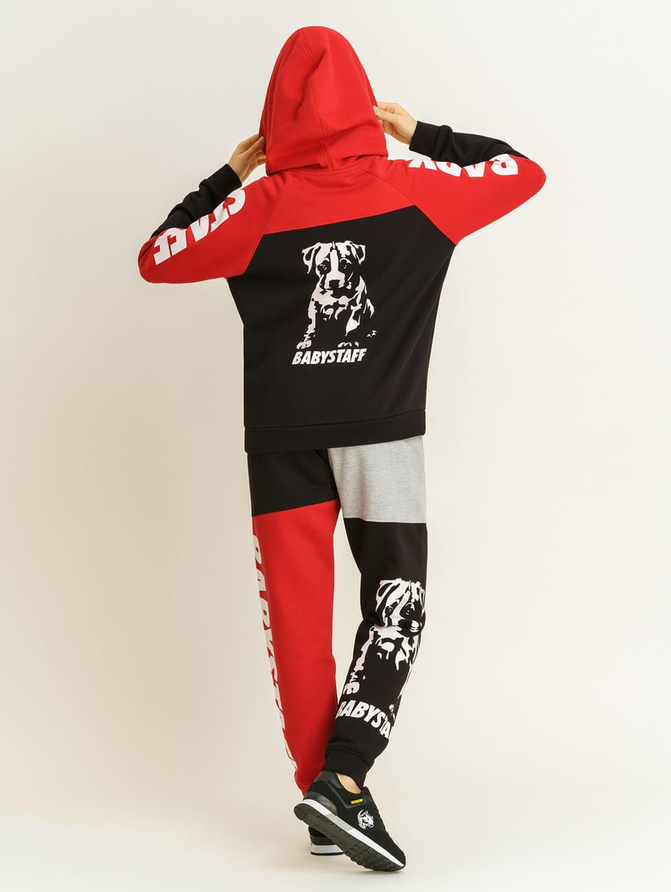 Крутые спортивные костюмы женские Амстафф Babystaff Aruna red