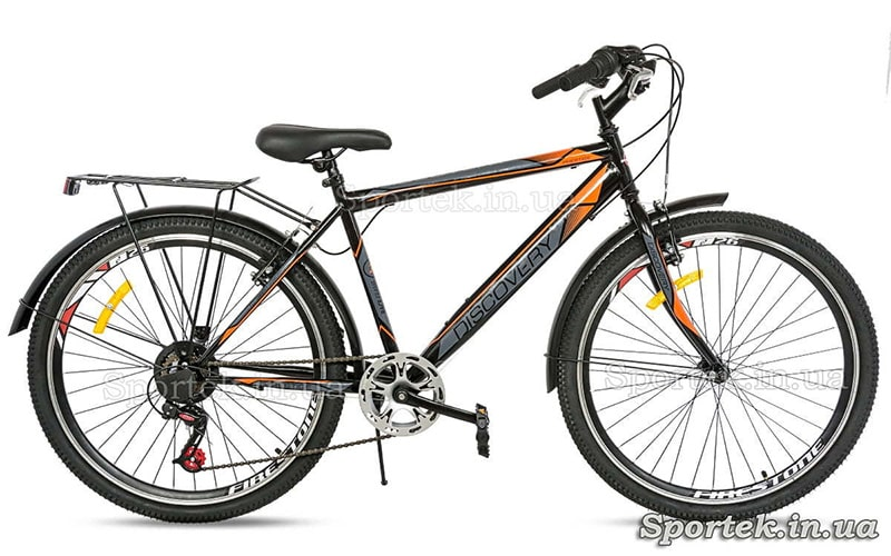 Городской велосипед с полноразмерными металлическими крыльями