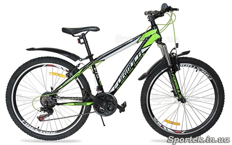 Гірський велосипед з пластиковими крилами
