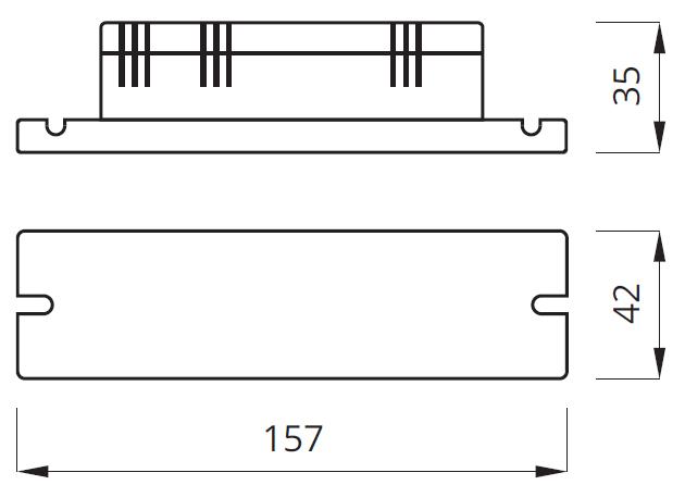 Размер блока аварийного питания LIDER EVG
