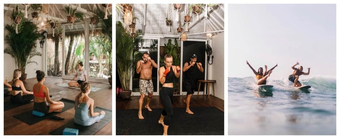 Серф-йога кемп на Бали