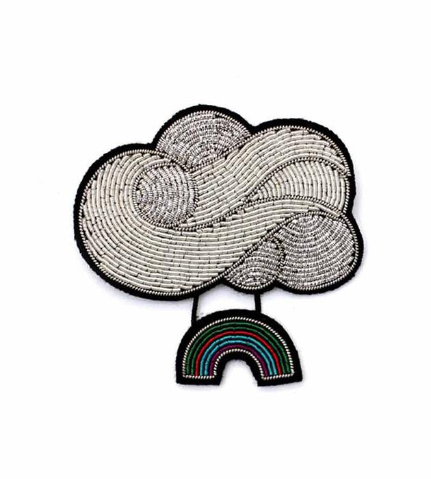 купите оригинальное расшитое украшение от французского бренда Macon&Lesquoy - Rainbow Cloud brooch