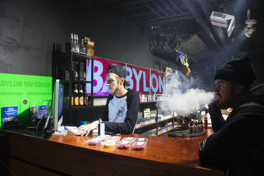 Moscow city vapeshop by Babylon