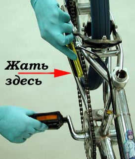 Перевірка зіскоку ланцюга із зірочок одношвидкісного велосипеда