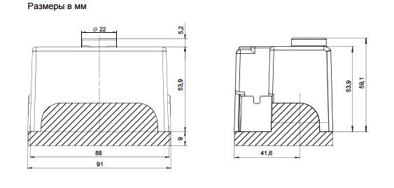 Размеры автомата горения Siemens LME41.054C2