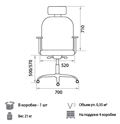 Кресло Адам размеры