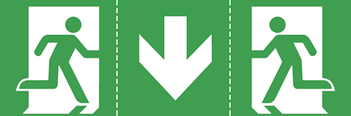 Универсальная пиктограмма для эвакуационного указателя EXIT-L
