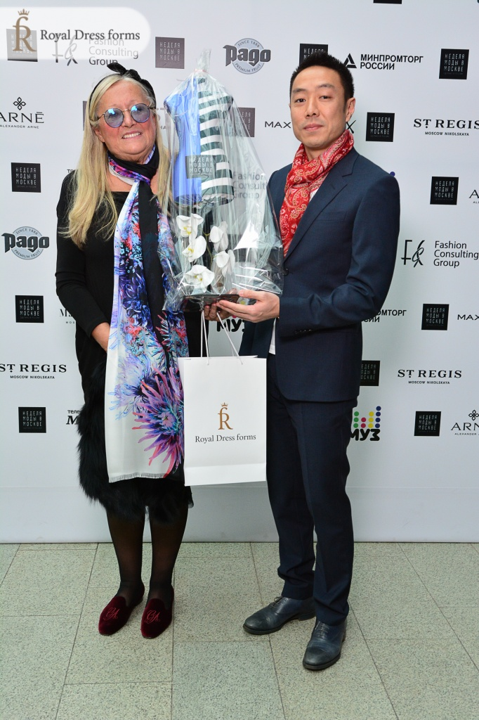 Royal Dress forms вручает манекен Betty Татьяне Михалковой
