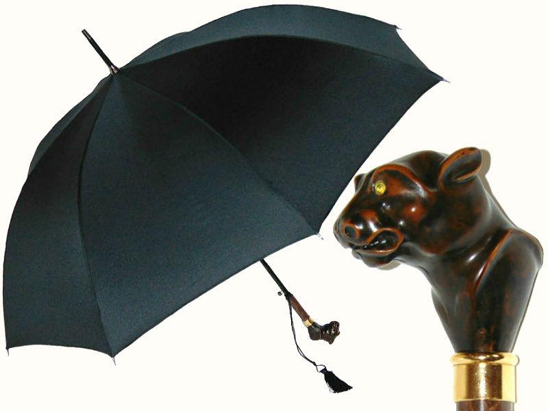 Зонт с головой тигра