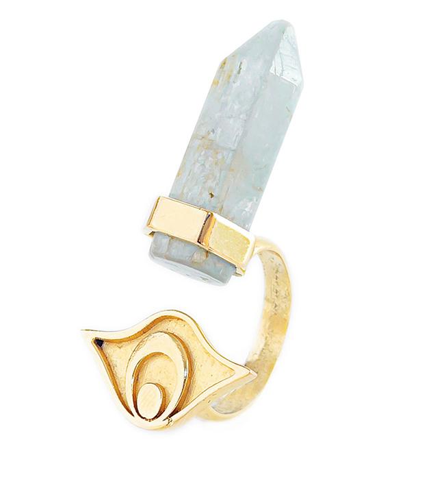 кольцо золотого цвета с кианитом - Isi Ring Gold от MAVA HAZE