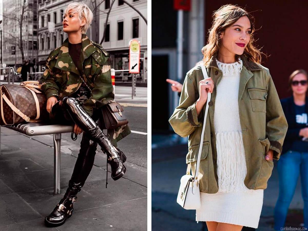 Камуфляжный модный стиль в одежде