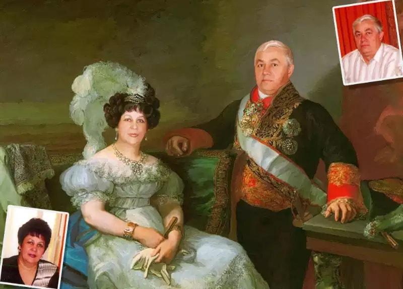 Эксклюзивная подарочная картина на юбилей семейной паре