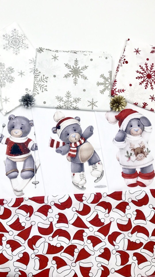 Новогодние детские ткани