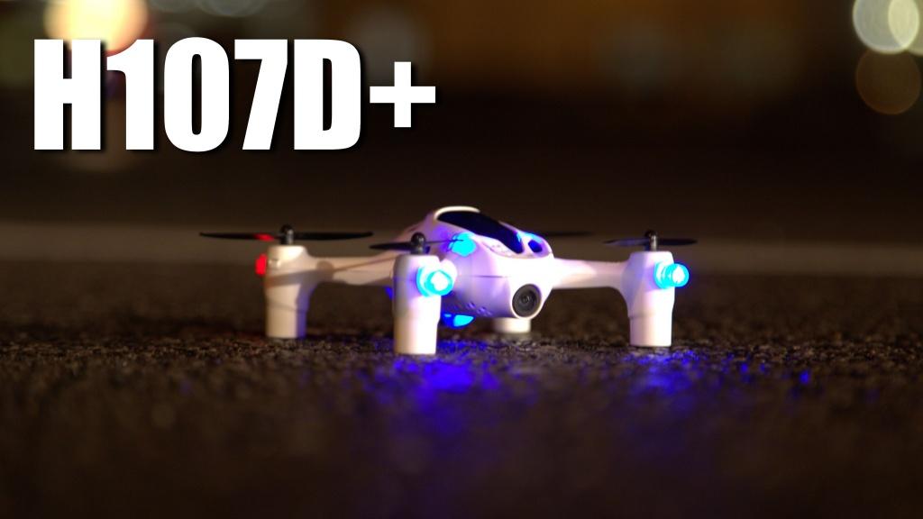 Бортовые огни для ночных полётов - Мини-квадрокоптер Hubsan H107D+ Plus
