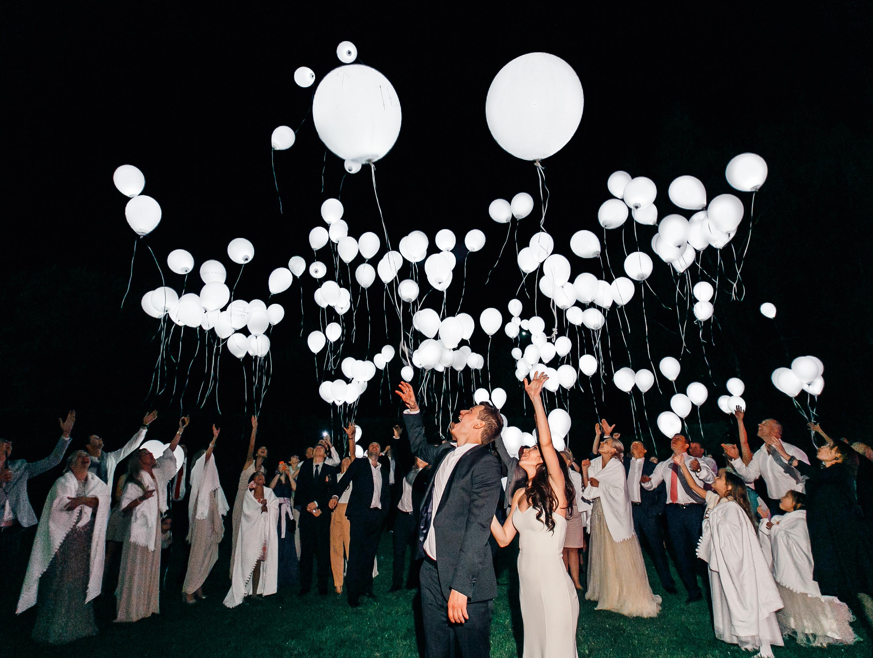 Воздушные шарики свадебные