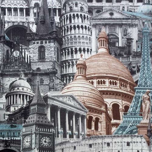Architecture blue-grey микровелюр 1 категория