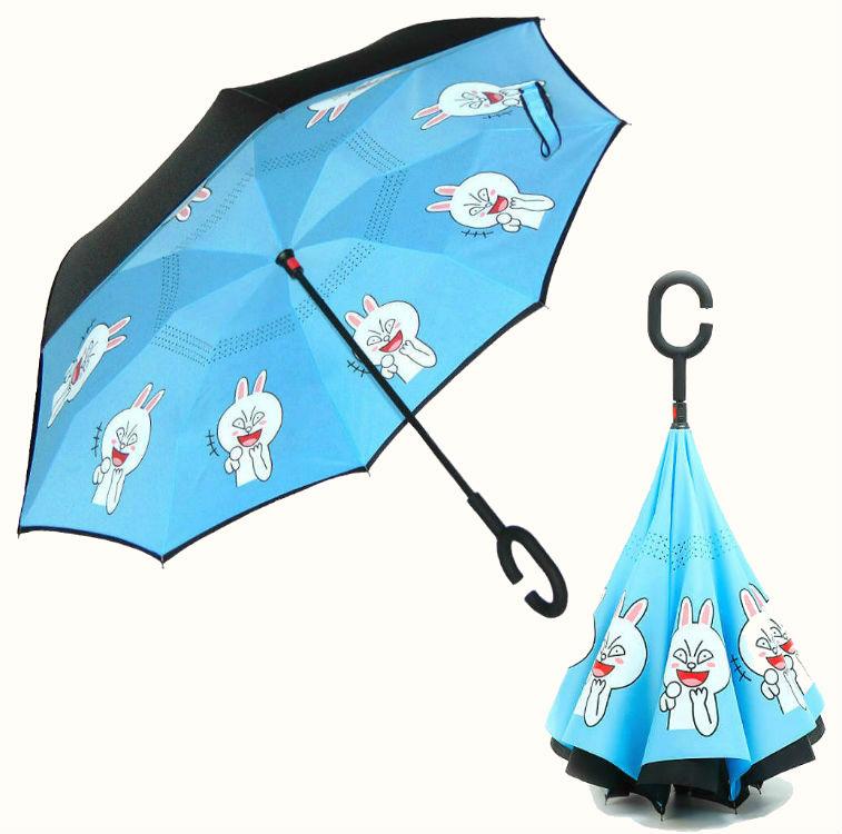 Обратный умный зонт Аниме