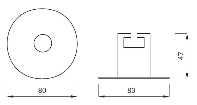 Размер встраиваемого аварийного светильника EYE LED Round