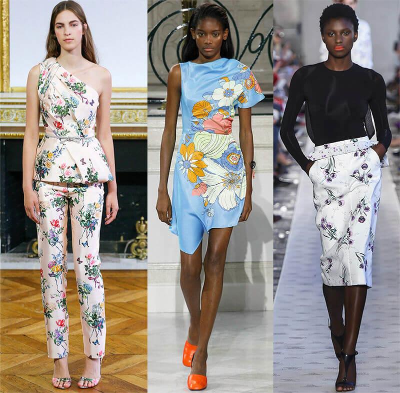 Крупные цветы- новое направление в моде