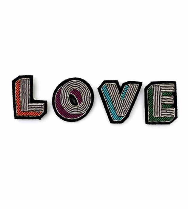 оригинальные 4 брошки-буквы ручной работ от Macon&Lesquoy - LOVE box