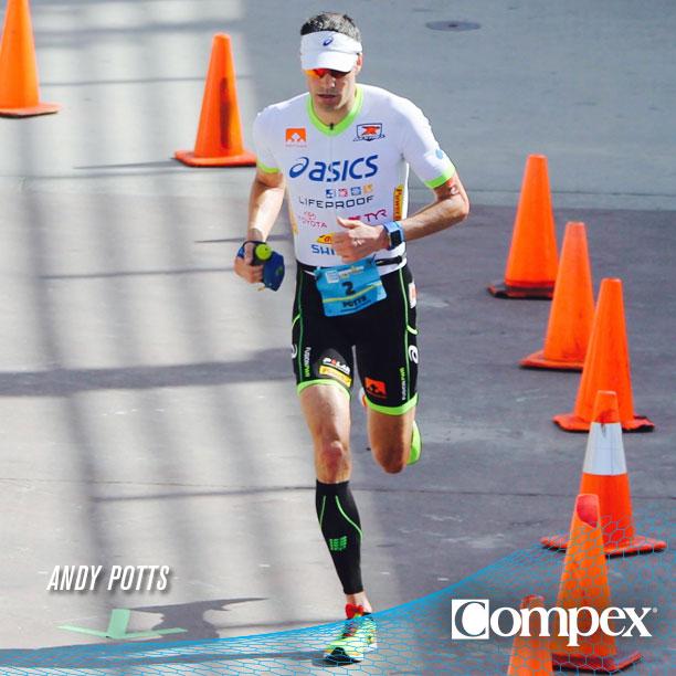 Триатлет Энди Поттс тренируется с Compex