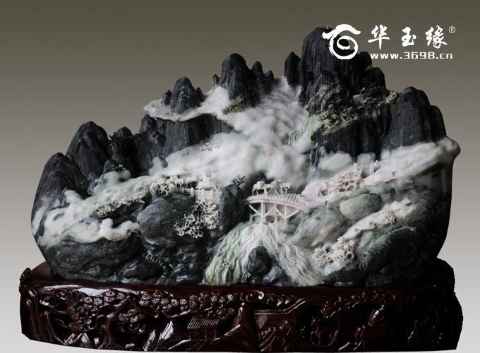 Пейзаж из цельного нефрита