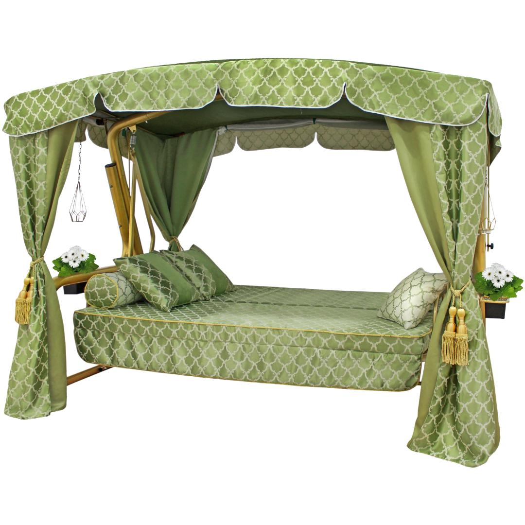 Княгиня зеленая кровать
