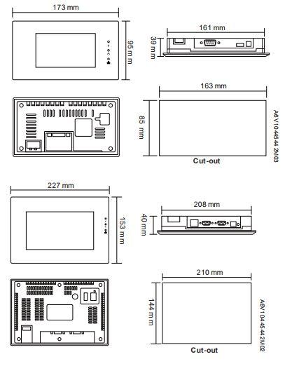 Размеры Siemens POL8T7.20/STD