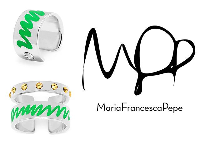 украшения с родиевым покрытием от Maria Francesca Pepe