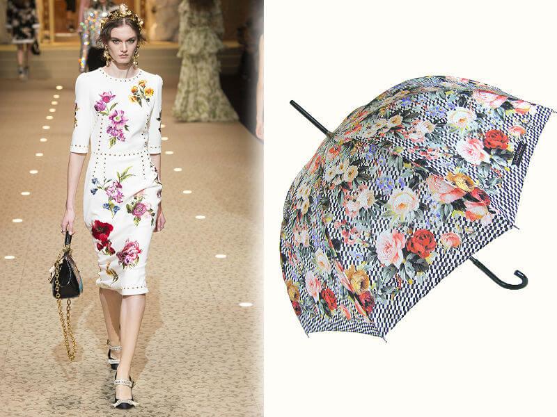 Зонт-трость букет роз