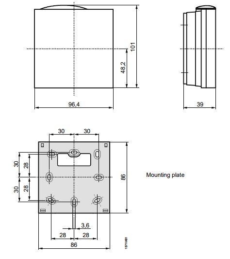 Размеры Siemens QPA84