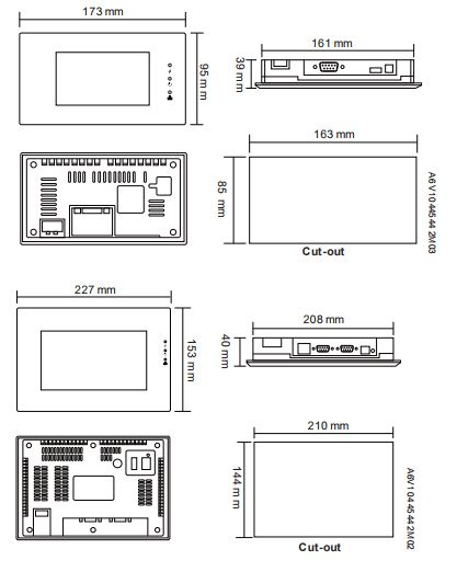 Размеры Siemens POL8T7.50/STD