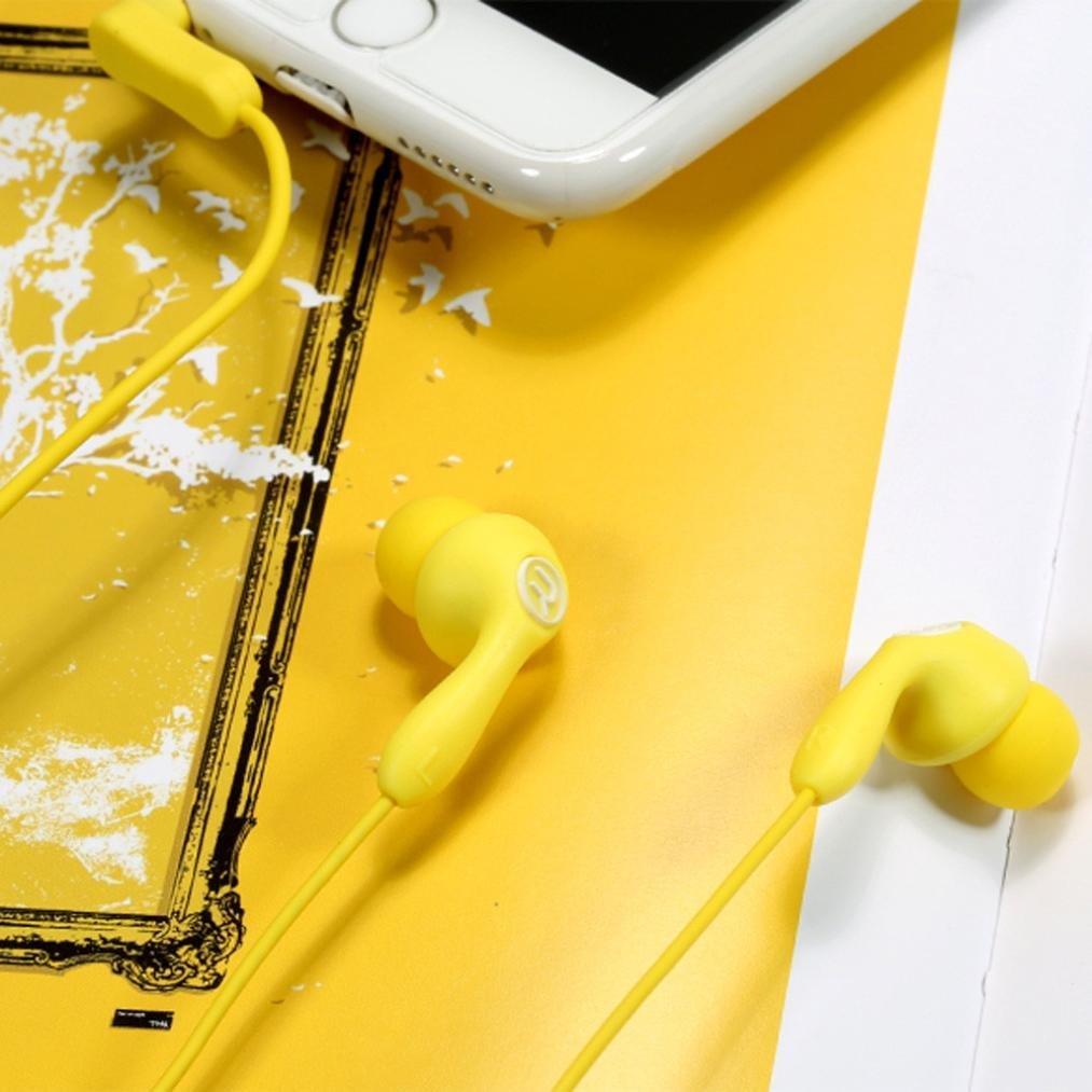 Наушники с микрофоном Remax RM-505 Yellow