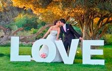 Свадебные буквы