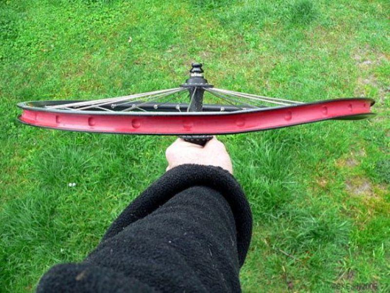 восьмёрка на колесе велосипеда