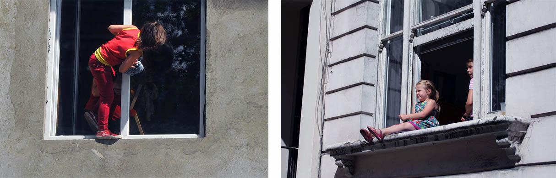 открытые окна дети, ребенок в окне