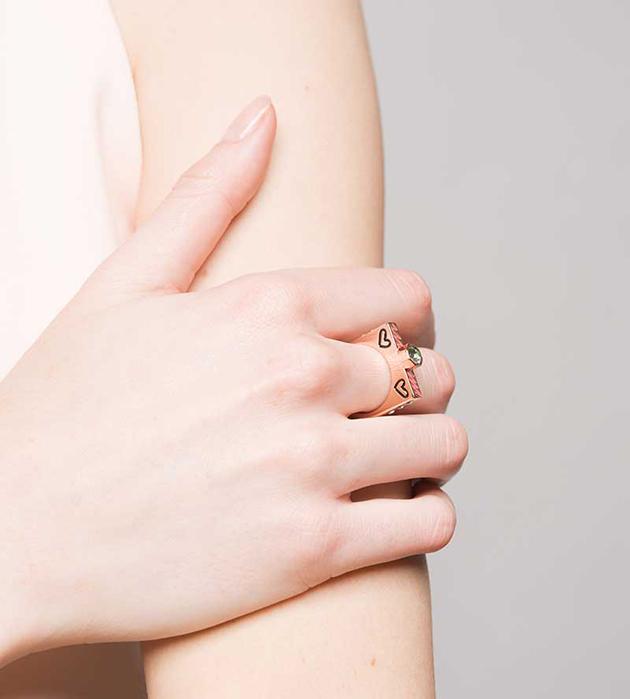 стильное кольцо цвета розового золота от Maria Francesca Pepe - Lover ring rose gold