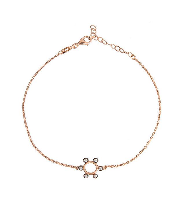 купите браслет цвета розового золота с цирконами от Apodemia