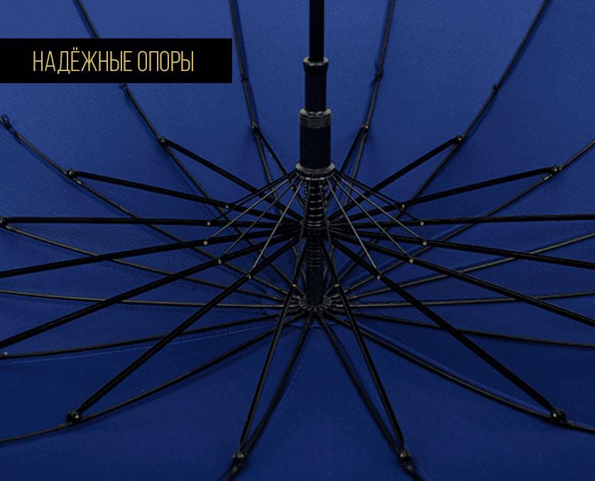 Зонт трость серый   ZC Sarto
