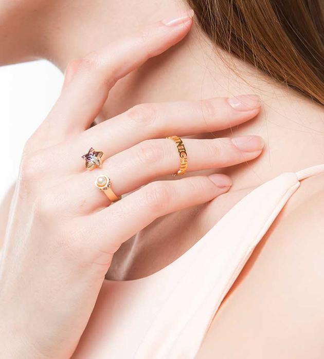 стильное кольцо ручной работы от Maria Francesca Pepe - Star ring