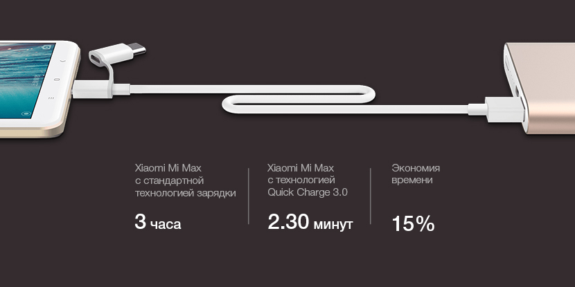 Xiaomi Mi Power Bank Pro 10000 mAh Quick Charge 3.0 (розовое золото)