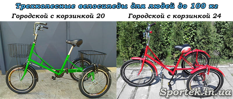 Трехколесные велосипеды серии 'Городской'
