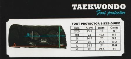 Футы ITF Khan размерная таблица