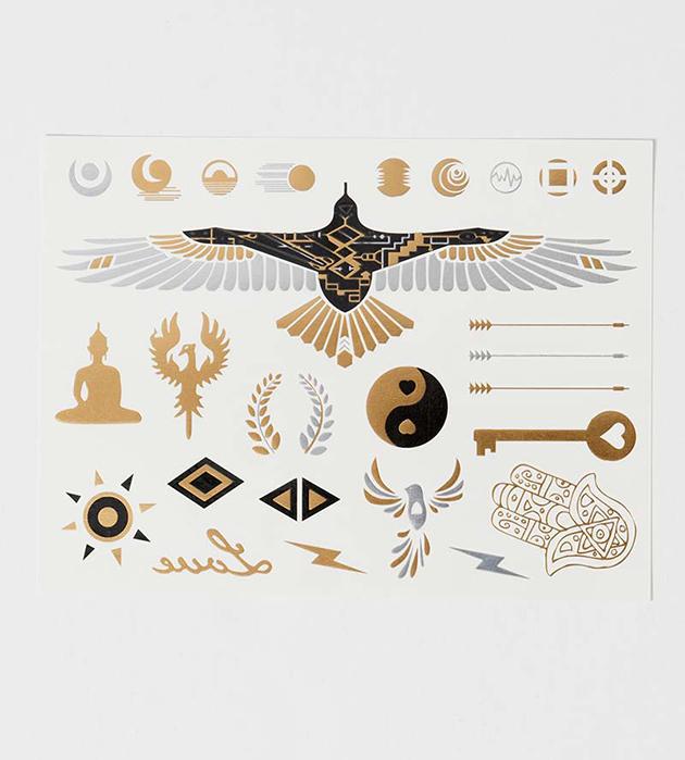 купите необычный набор переводных флэш-татуировок от Miami Tattoos - Hard&Heavy