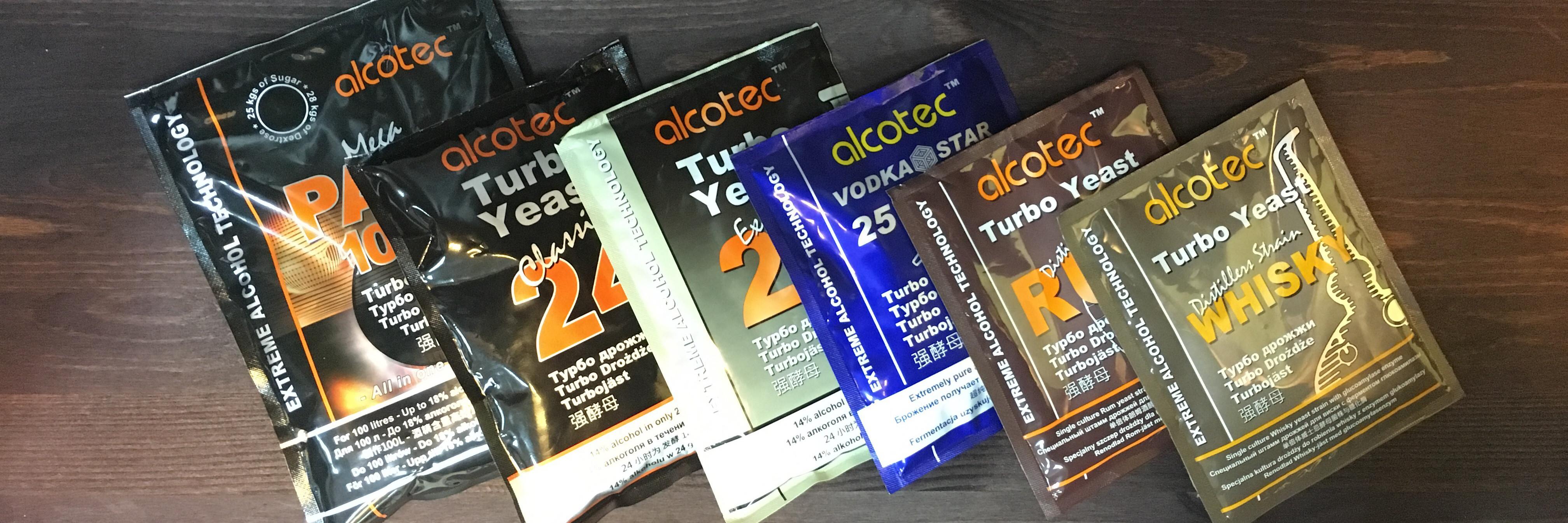 Турбо дрожжи от компании Alcotec