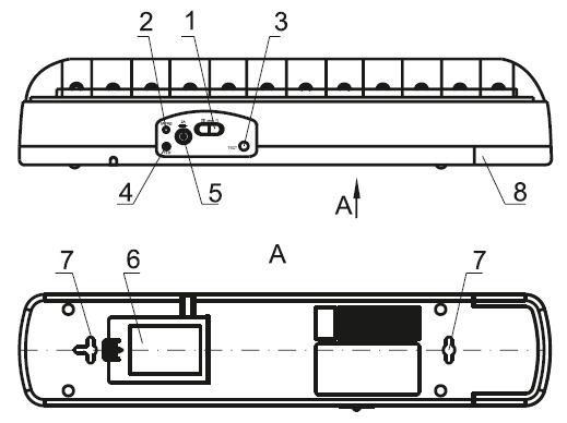 Устройство светильника ДБА 3926
